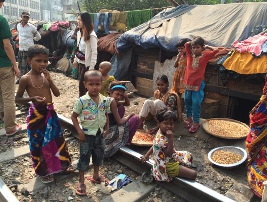 バングラの貧困街スラム
