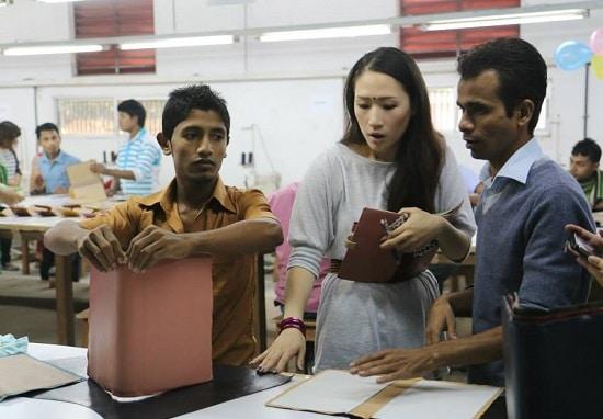 バングラデシュ工場の技術指導