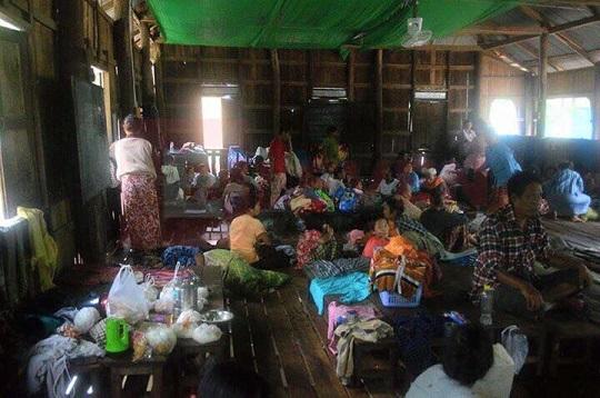 ミャンマー洪水 避難所