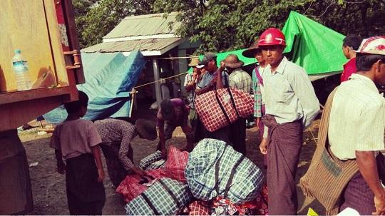 ミャンマー洪水 支援物資