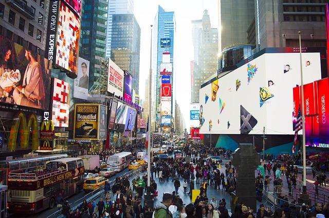 ニューヨーク、タイムズスクエア周辺