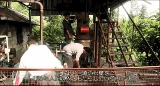 インドの松葉で発電03