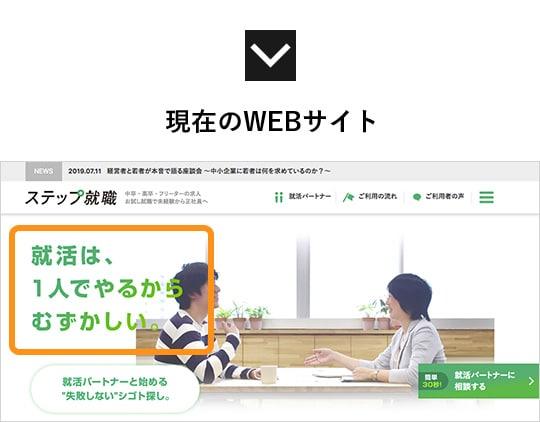 現在のWEBサイト