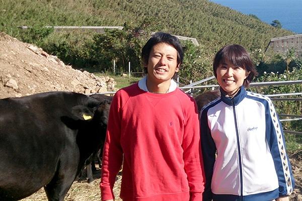 宝牧舎の牧場は人と牛の接点